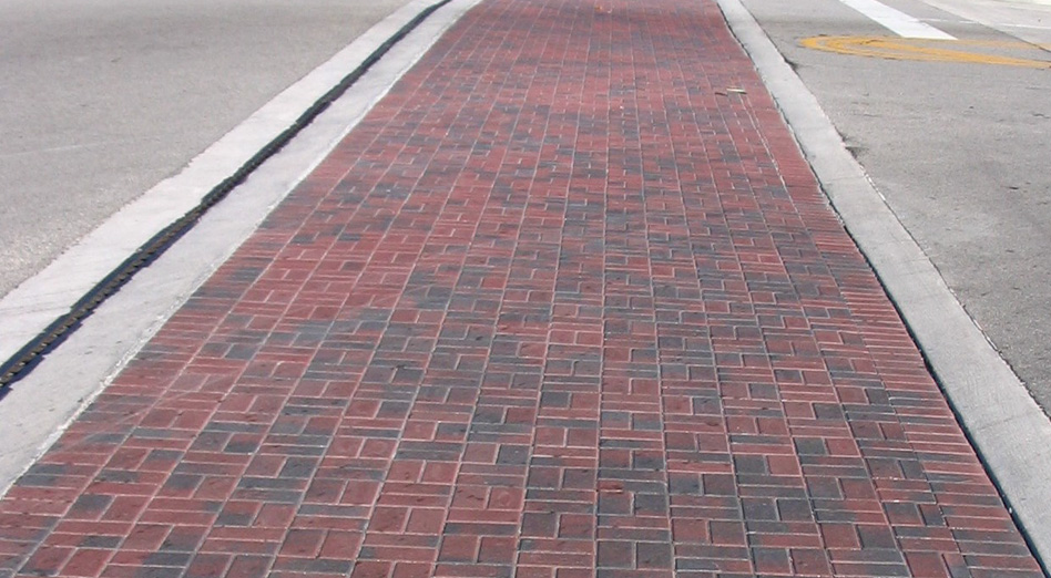 decorative brick pavers. The expensive way of providing a multi colored decorative look using brick  pavers Atlantic Paving Decorative Technology for the Road Ahead
